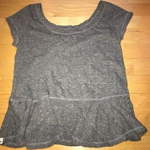 ABERCROMBIE AND FITCH peplum grey top